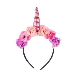 Metallic Colors Unicorn Horn Headband Flower Crown
